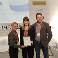 CDO Sara Hurley with Highly Commended Diane Powell and Dan Palmer from Darwenside Dental